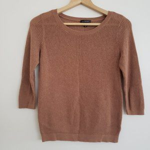 The Limited Dark Tan Open Weave Sweater Size Med
